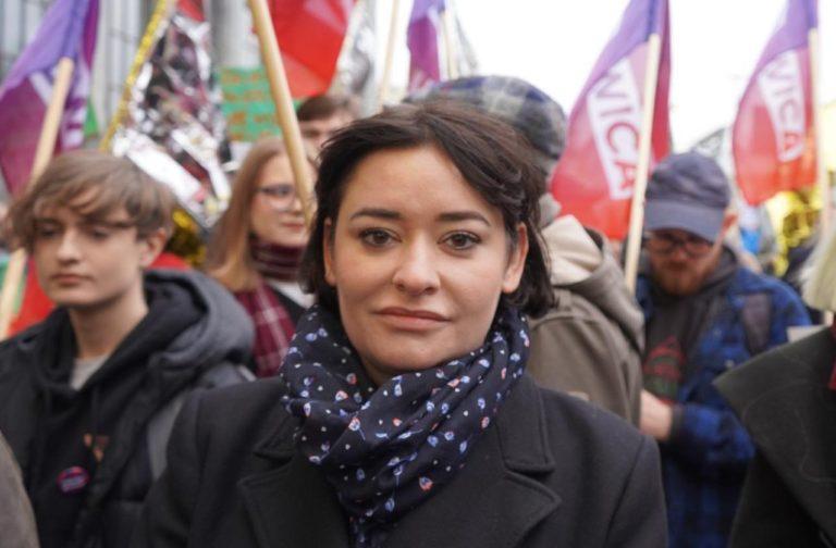 Anna-Maria Żukowska na proteście stop torturom na granicy!